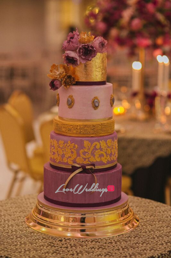 Gold Opulence Alegrar Events Wedding Cake LoveweddingsNG