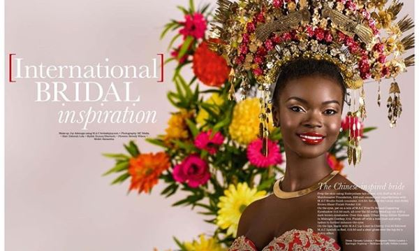 International Womens Day - Joy Adenuga Chinese Bridal Makeup LoveweddingsNG feat