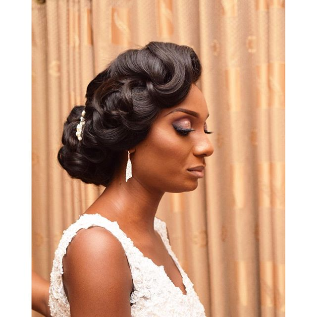 Nigerian Bridal Hair #MrandMrsChurch LoveweddingsNG TasalaHQ