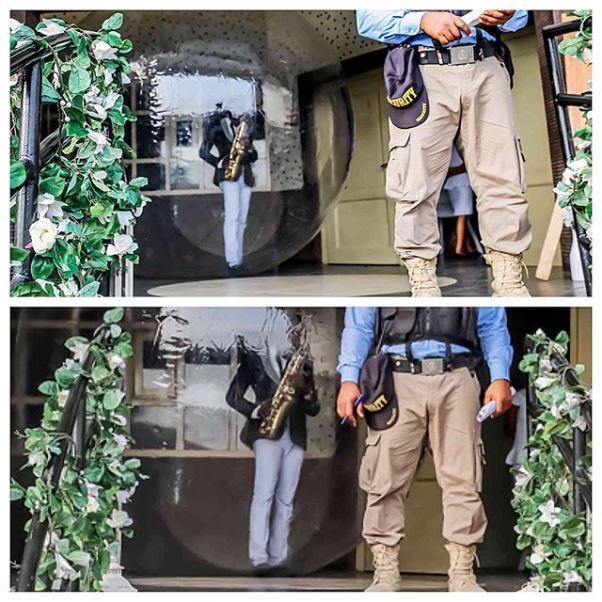 Nigerian Wedding Saxophonist in a Bubble #MrandMrsChurch LoveweddingsNG