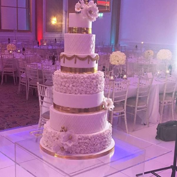 Nigerian Wedding TolaYemi - Cake TY Couture LoveweddingsNG