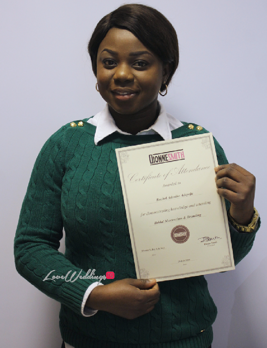 The Bridal Masterclass by Dionne Smith Academy - LoveweddingsNG Certificates 1