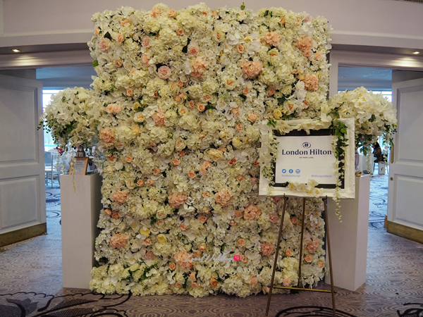 The Luxury Wedding Show 2016 LoveweddingsNG - Flower Wall by Designer Wedding Planner