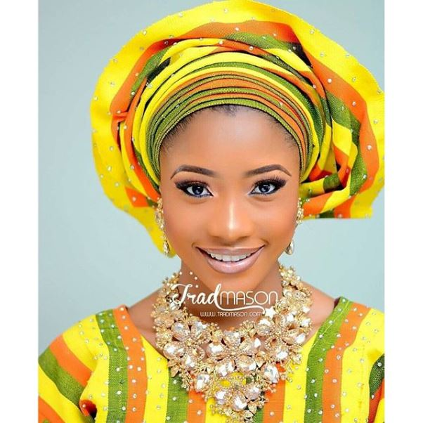 Aso Oke: Trad Mason | Model: Uju | Jewellery: DEA Jewelleries | Makeup: Beauty Wise Bola