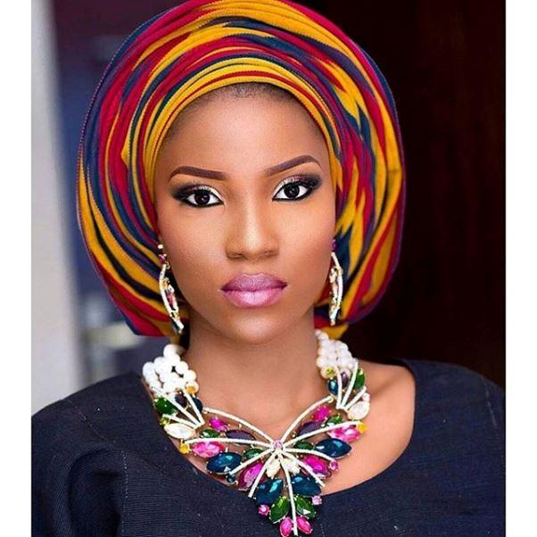 Aso Oke Head to Toe Nigerian Traditional Bride LoveweddingsNG 12