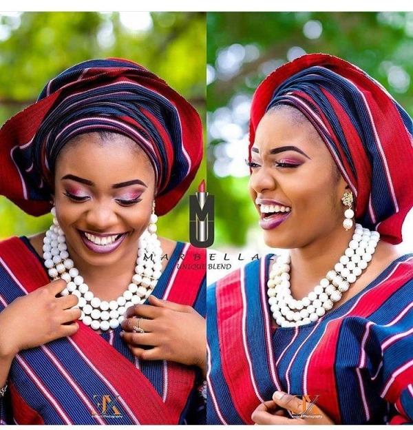 Aso Oke Head to Toe Nigerian Traditional Bride LoveweddingsNG 3