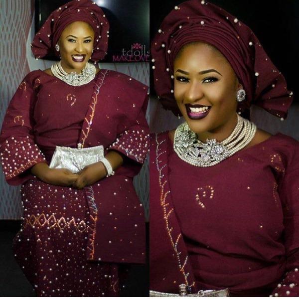 Aso Oke Head to Toe Nigerian Traditional Bride LoveweddingsNG 5