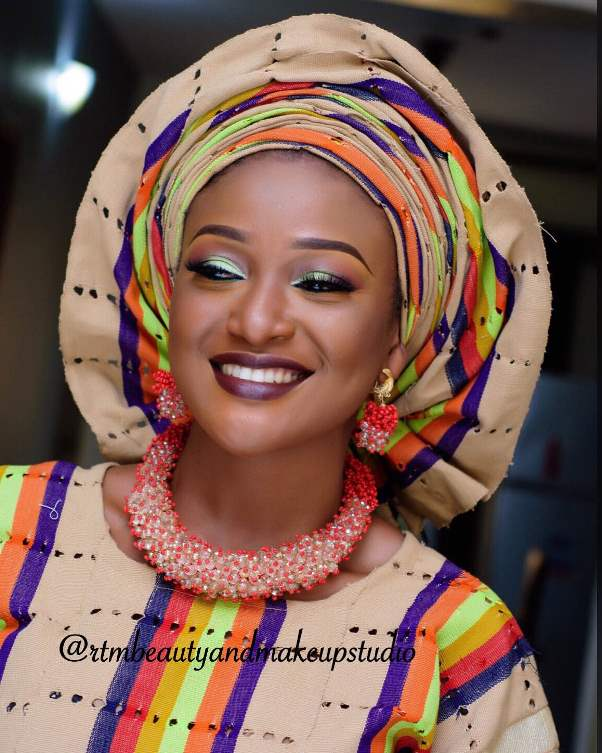 Aso Oke Head to Toe Nigerian Traditional Bride LoveweddingsNG 6