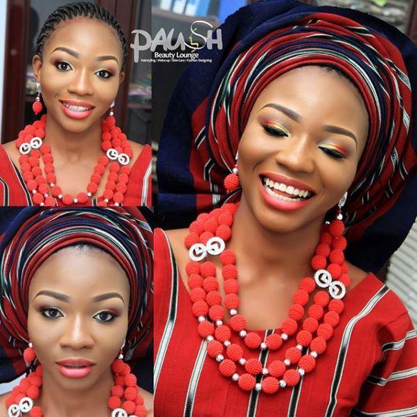 Aso Oke Head to Toe Nigerian Traditional Bride LoveweddingsNG 9