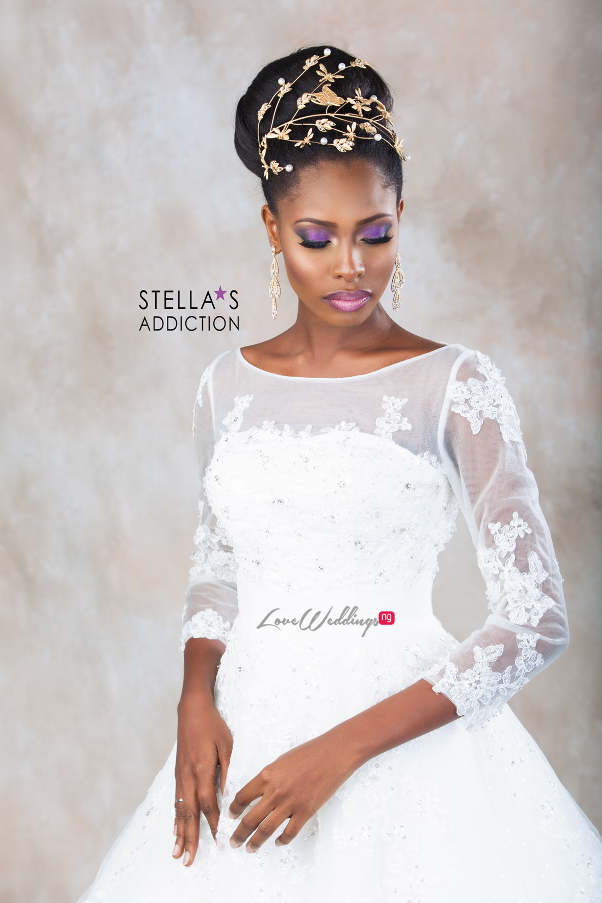 Bridal Hair and Makeup Inspiration Stellas Addiction LoveweddingsNG 10