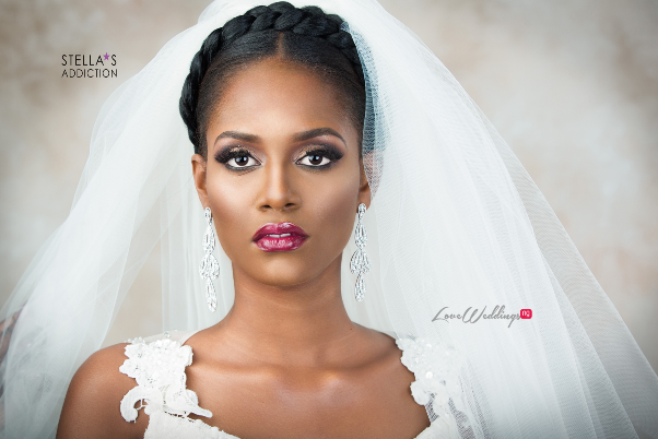 Bridal Hair and Makeup Inspiration Stellas Addiction LoveweddingsNG 7