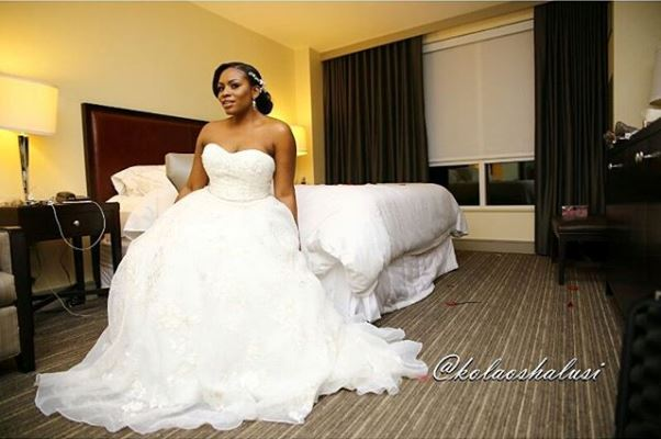 Liz Awoliyi weds Tosin Osho White Wedding LoveweddingsNG
