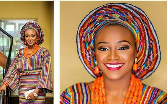 Aso-Oke Head to Toe Traditional Bridal Inspiration