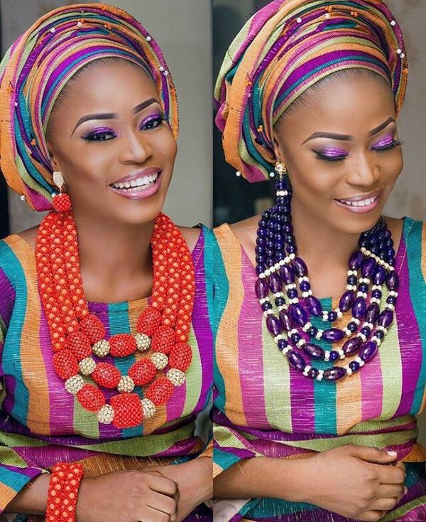 Nigerian Traditional Bridal Aso Oke Head to Toe Inspiration LoveweddingsNG 2
