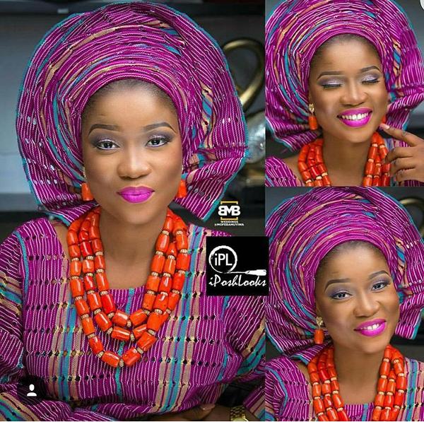 Nigerian Traditional Bridal Aso Oke Head to Toe Inspiration LoveweddingsNG