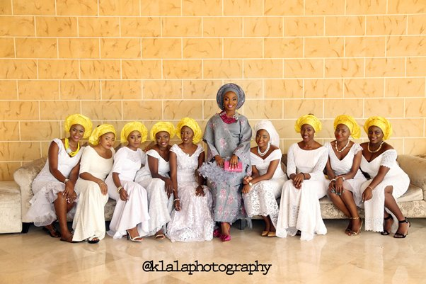 Nigerian Traditional Bride and Bridesmaids Klala Photography LoveweddingsNG