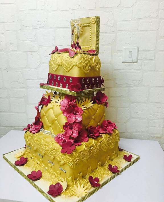 Nigerian Traditional Wedding Cake #ThePsalms2016 The Muse Academy LoveweddingsNG