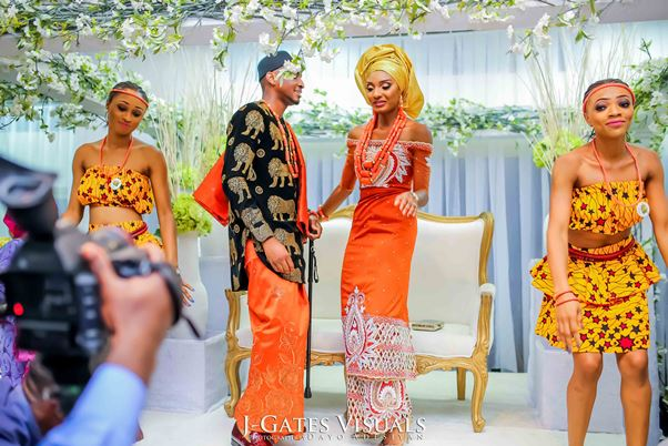 Nigerian Traditional Wedding #MrandMrsChurch Trendybee Events LoveweddingsNG 2