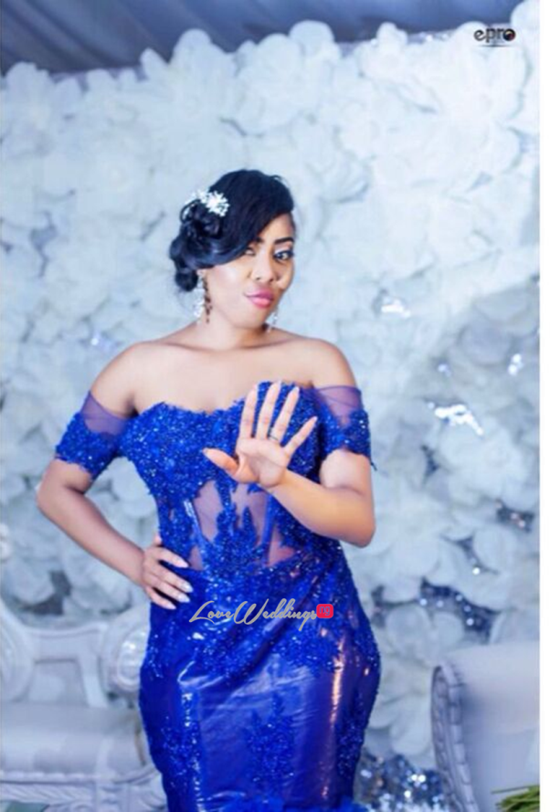Nigerian Wedding - Joy and Jonathan Reception Dress LoveweddingsNG