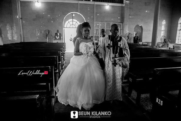 Nigerian White Wedding Folake and Dotun Seun Kilanko Studios LoveweddingsNG Bride Aisle