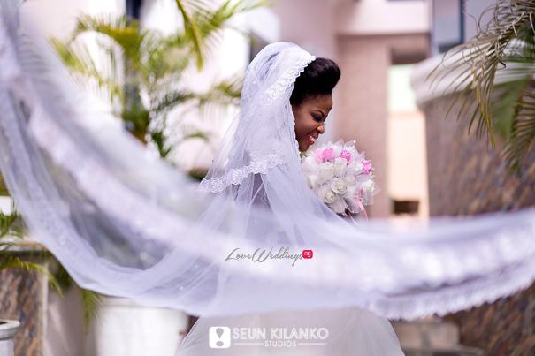 Nigerian White Wedding Folake and Dotun Seun Kilanko Studios LoveweddingsNG Bride Veil 1