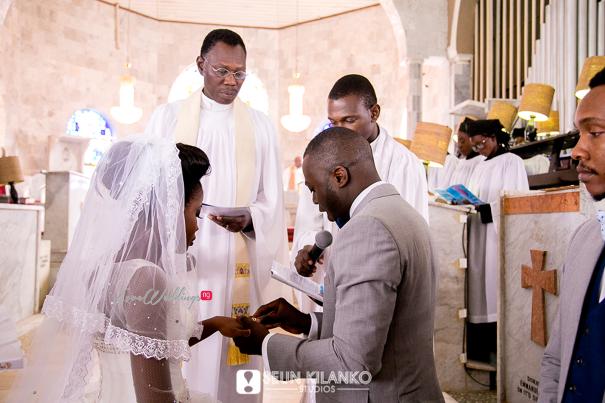 Nigerian White Wedding Folake and Dotun Seun Kilanko Studios LoveweddingsNG Ring Wed