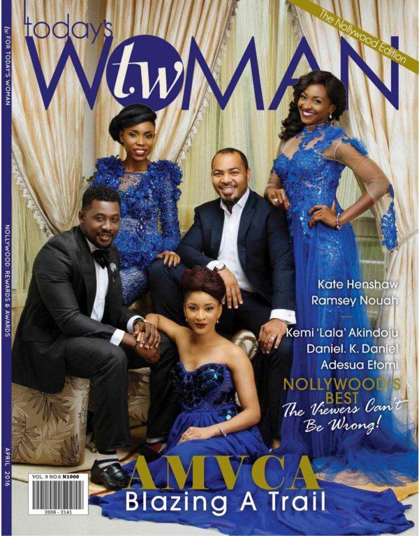 "Todays Woman April Cover Ramsey Nouah, Kate Henshaw, Adesua Etomi, Kemi ""Lala"" Akindoju & Daniel K. Daniel Cover LoveweddingsNG"