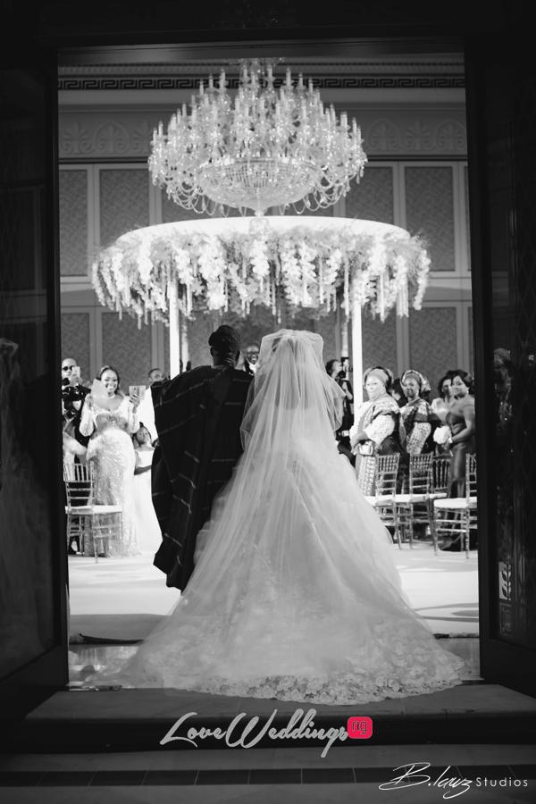 Coco Adeleke and Caleb Adaji White Wedding in Dubai Bride and Dad Church BLawz Studios LoveweddingsNG 2