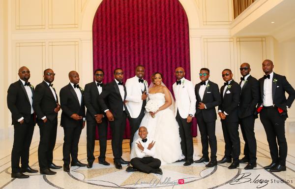 Coco Adeleke and Caleb Adaji White Wedding in Dubai Couple and Groomsmen BLawz Studios LoveweddingsNG