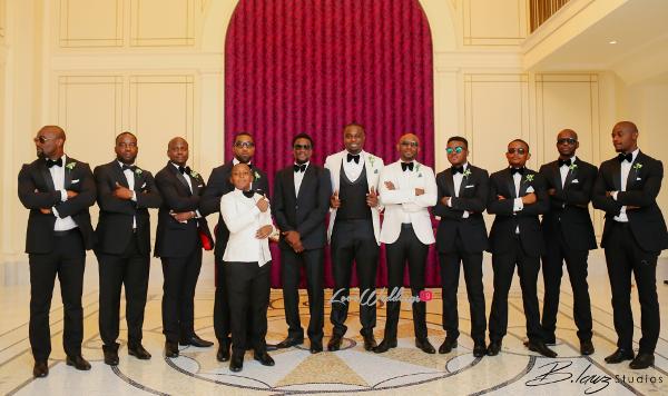 Coco Adeleke and Caleb Adaji White Wedding in Dubai Groom and Groomsmen BLawz Studios LoveweddingsNG 10