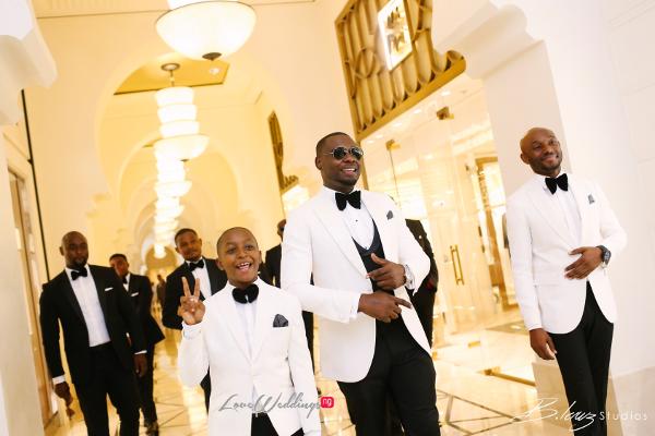 Coco Adeleke and Caleb Adaji White Wedding in Dubai Groom and Page Boy BLawz Studios LoveweddingsNG