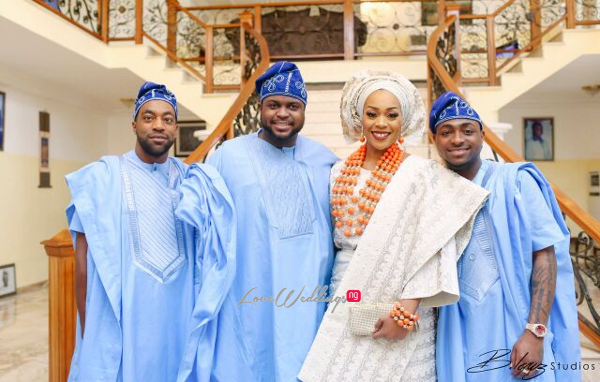 Davido's sister Coco weds Caleb Traditional Wedding Bride and Brothers LoveweddingsNG