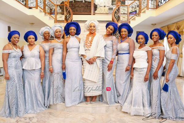 Davido's sister Coco weds Caleb Traditional Wedding Bride and Friends LoveweddingsNG 1