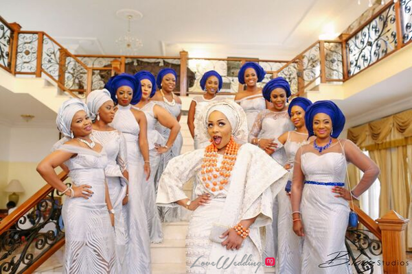Davido's sister Coco weds Caleb Traditional Wedding Bride and Friends LoveweddingsNG