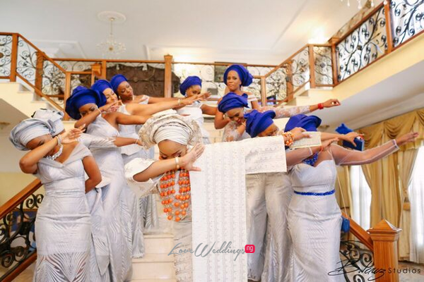 Davido's sister Coco weds Caleb Traditional Wedding Bride and Friends Oya Dab LoveweddingsNG