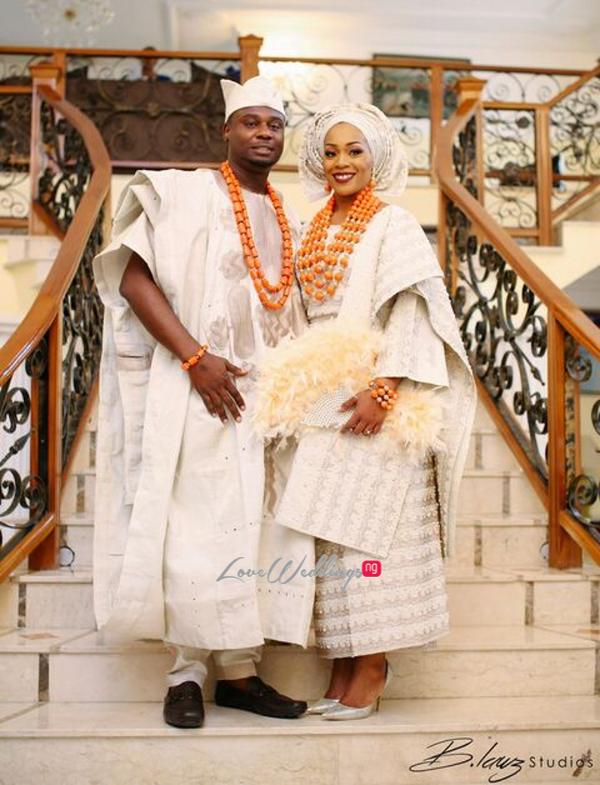 Davido's sister Coco weds Caleb Traditional Wedding Couple LoveweddingsNG 1