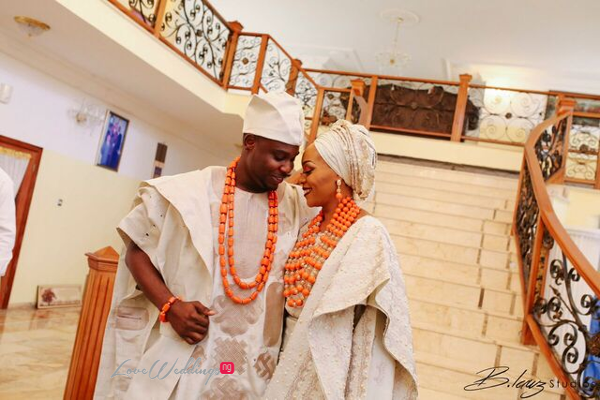 Davido's sister Coco weds Caleb Traditional Wedding Couple LoveweddingsNG