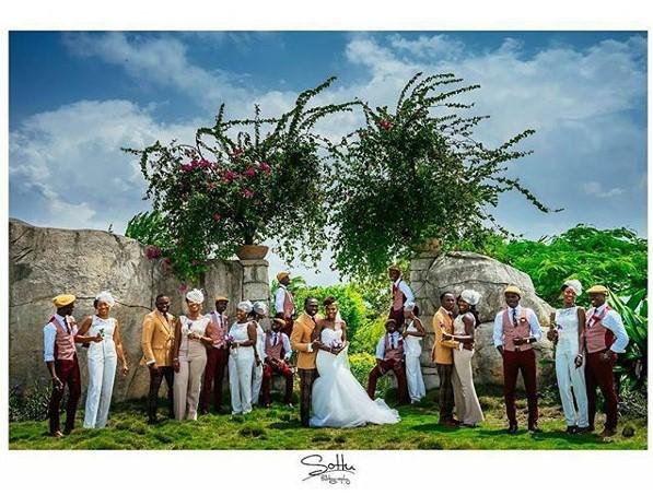 Jide weds Morayo Odukoya Bridal Train White Wedding Sottu Photography LoveweddingsNG #MJ2016