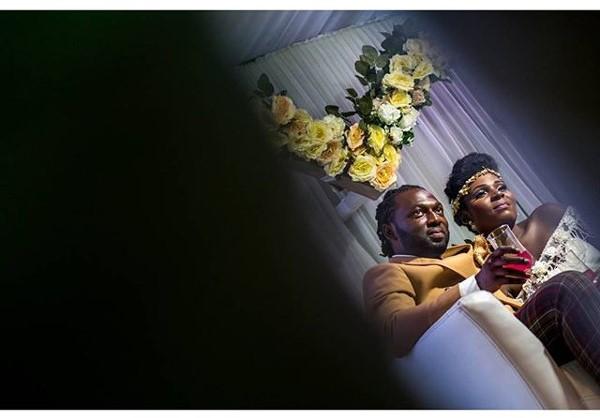 Jide weds Morayo Odukoya Bride and Groom White Wedding Bayo Omoboriowo LoveweddingsNG #MJ2016