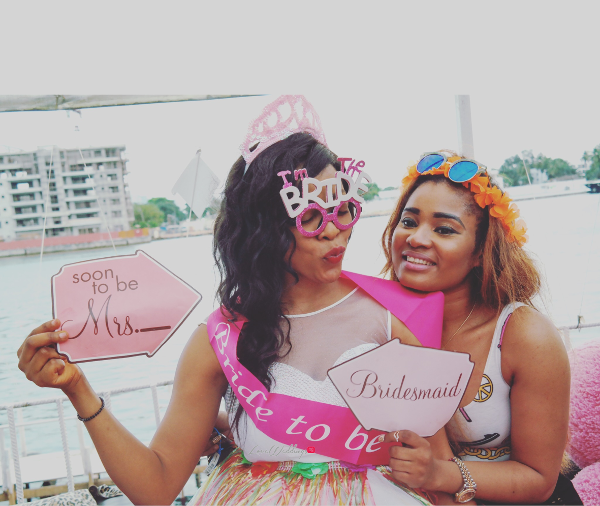 Keona's Hawaian Themed Bridal Shower Bride and Friend Partito by Ronnie LoveweddingsNG
