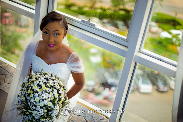 Nigerian Bride and Bouquet Grace and Pirzing LoveweddingsNG Diko Photography  2