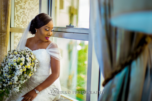 Nigerian Bride and Bouquet Grace and Pirzing LoveweddingsNG Diko Photography 3