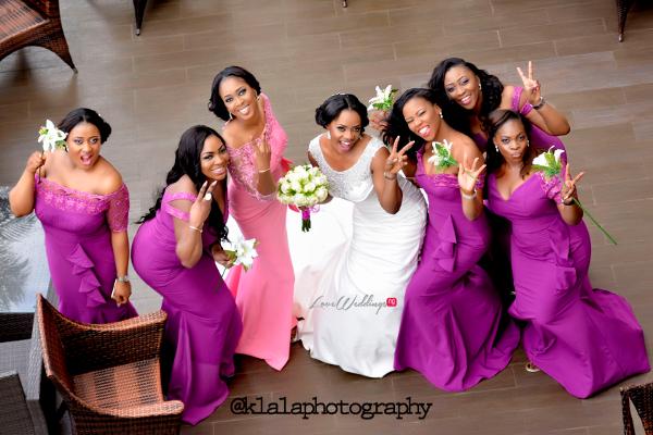 Nigerian Bride and Bridesmaids Isioma and Ifeanyi LoveweddingsNG Klala Photography