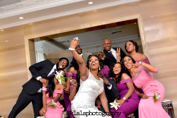 Nigerian Bride and Bridesmaids Selfie Isioma and Ifeanyi LoveweddingsNG Klala Photography 1