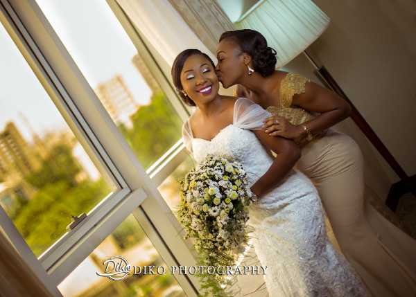 Nigerian Bride and Friend Grace and Pirzing LoveweddingsNG Diko Photography 1