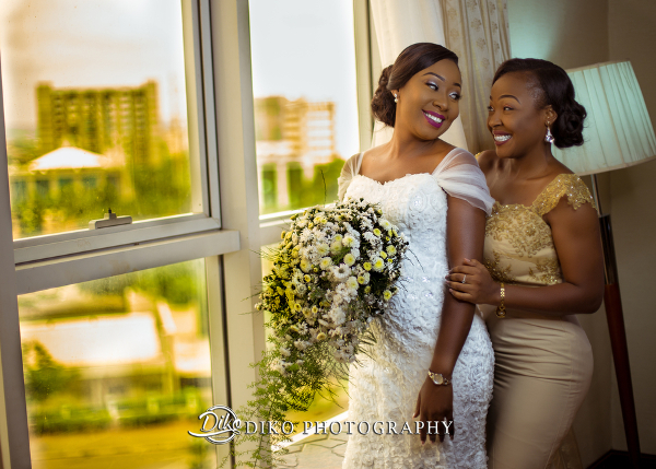 Nigerian Bride and Friend Grace and Pirzing LoveweddingsNG Diko Photography