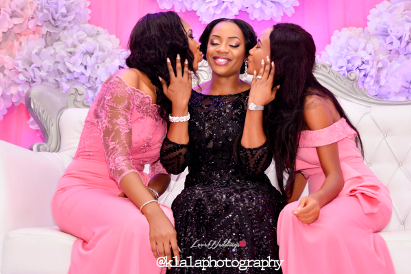 Nigerian Bride in Black and Bridesmaids in Pink Isioma and Ifeanyi LoveweddingsNG Klala Photography 1