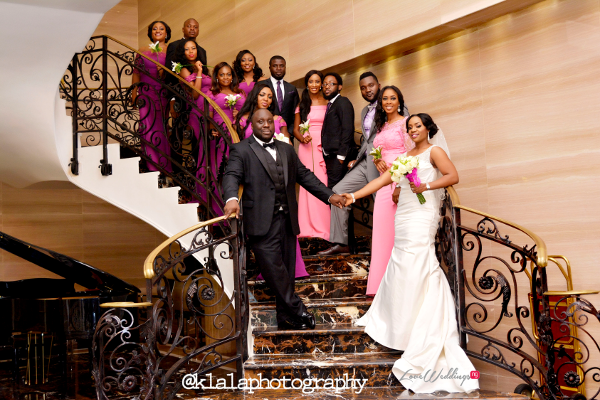 Nigerian Couple and Bridal Train Isioma and Ifeanyi LoveweddingsNG Klala Photography