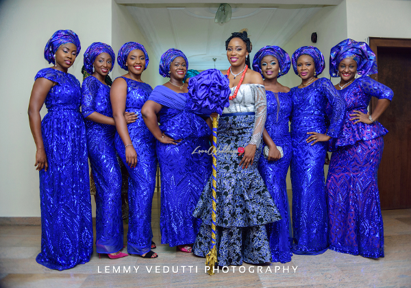 Nigerian Traditional Bride and Aso Ebi girls Jane and Solomon Lemmy Vedutti Photography LoveweddingsNG 1