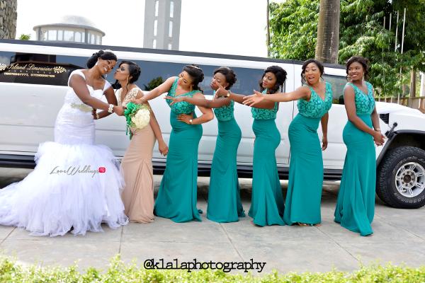 Nigerian Wedding Anu and Toye Bride and Bridesmaids LoveweddingsNG Klala Photography